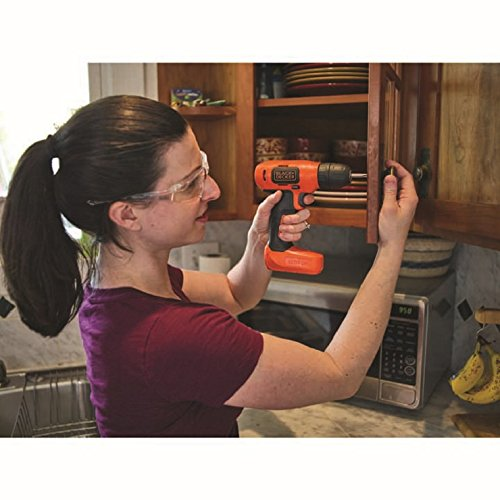 BLACK + DECKER BDCD8GPA 7.2V Li-Ion Cordless Drill Kit (Orange, 14-Pieces)