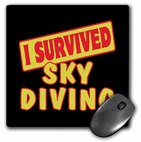 3drose Ich überlebte Fallschirmspringen Survial Stolz und Humor Design Mauspad (MP 118240_ 1)