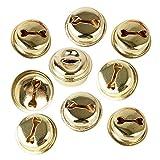100pcs 18mm Piccole Campanelle Natalizie Campane Oro in Metallo Campanellini Jingle Bells per DIY Gioielli o Decorazione di Natale