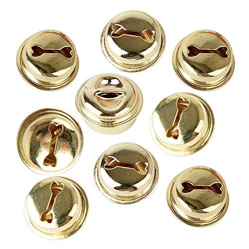 100 Stück 18mm Glöckchen Schellen Basteln Anänger kleinen Glocken Schellen Jingle Bells mit Öse aus Metall für Schmuckherstellung Weihnachten Dekoration DIY -