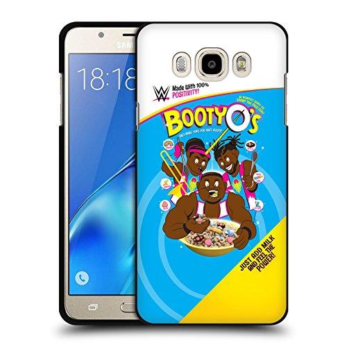Head Case Designs Offizielle WWE Booty O's The New Day Soft Gel Hülle Schwarz für Samsung Galaxy J7 (2016) (Schwarz Soft Booties)