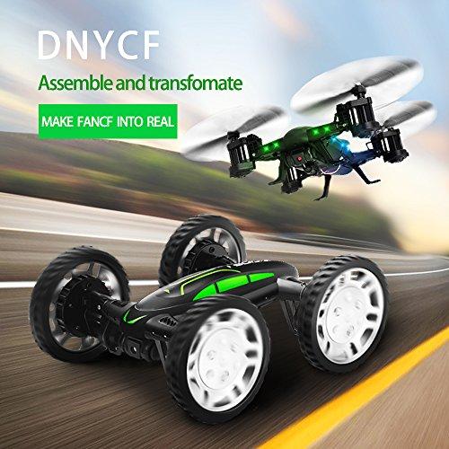 Air-Ground-Drone-Quadcopter-RC-Auto-dalla-terra-e-dallaria-Dual-Mode-24-GHz-6-assi-Elicottero-del-giroscopio-Con-videocamera-HD-e-2-batterie-Di-650mah