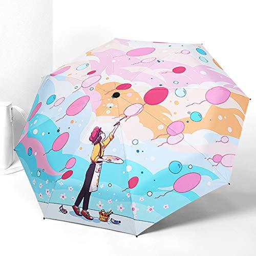 LIYONG Regenschirm Ultraleichter Kleiner Sonnenschirm Bewegung Und Outdoor-Sport-Taschenschirm, Sonnenschirm/Sonnenschutz/UV-Schutz (Color : 3) - 3-licht-runde Baldachin