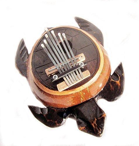 Double Duck Piano à Pouce Karimba Mbira Tortue Peint à la Main Commerce Équitable Atelier Musique Tortue Forme 22 CM