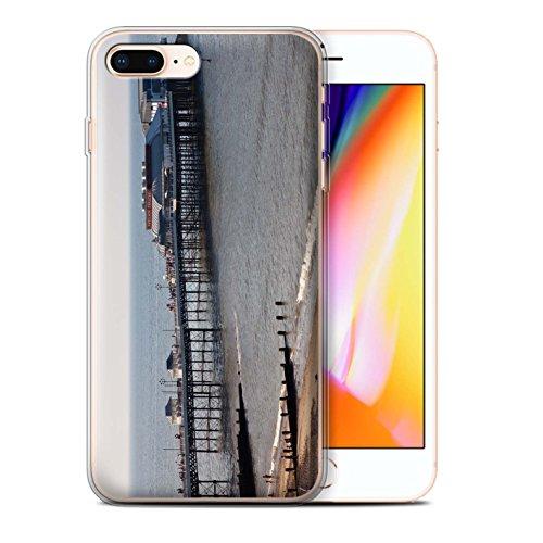 Stuff4 Gel TPU Hülle / Case für Apple iPhone 8 Plus / Altes Boot Muster / Britischen Küste Kollektion Seebrücke