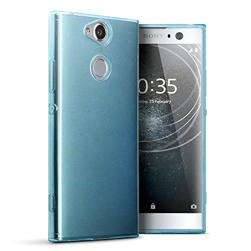 Terrapin, Kompatibel mit Sony Xperia XA2 Hülle, TPU Schutzhülle Tasche Case Cover - Transparent Blau