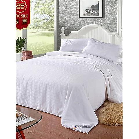 YangR* Le Quattro Stagioni 100% cotone trapuntato coperta di seta bianca rosa puro Tessili per la casa trapunte di seta set di biancheria da letto ,