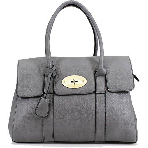 HB Style - Borsa sacchetto stile lusso Ragazza donna unisex adulti Grey