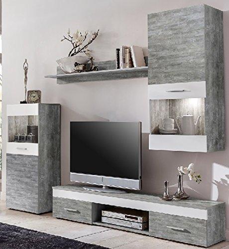 Wohnzimmerschrank Weiss Design Wohnzimmer Wandschrank Hochglanz Inspirierende