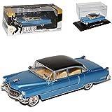 alles-meine.de GmbH Cadillac Fleetwood Serie 60 Limousine Blau Elvis Presley 1955 1/43 Greenlight Modell Auto mit individiuellem Wunschkennzeichen