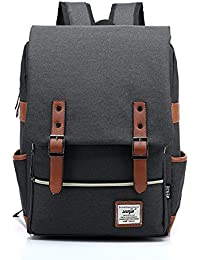 Escuela Dayback mochila de viaje mochila para ordenador portátil 15,6 pulgadas Bolsa resistente bolsa de lona para niños niñas Mujeres Negro Negro