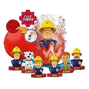 CRAZE Spaßbad Fireman INKEE Überraschungs Duft Badekugel mit Stempel Feuerwehrmann Sam 12550, bunt
