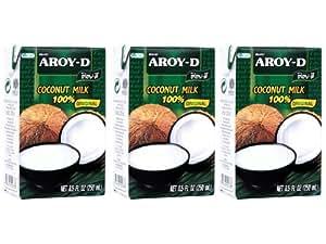 Aroy-D - Kokosmilch - 3er Pack (3 x 250ml)