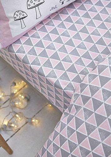 Nordica-bianca-cotone-morbido-cotone-Stampa-Cotone-Pink-Set-piumone-2-piazze