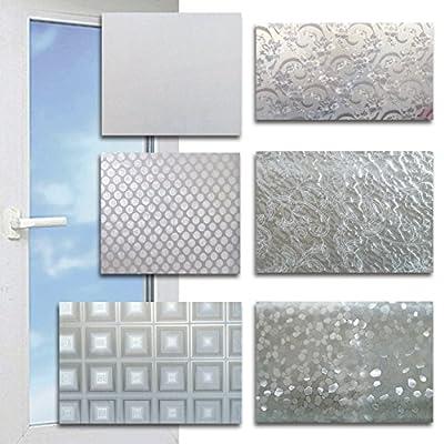 (072) Sichtschutzfolie Milchglasfolie Fensterfolie selbstklebend 200x45cm Muster
