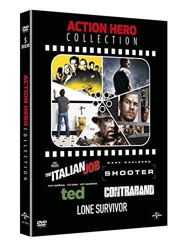 on (5 dvd) the italian job - shooter - ted - contraband - lone survivor box set (Lone Survivor Dvd-filme)