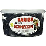 Haribo Lakritz Schnecken, 1er Pack (1 x 1.5 kg Dose)