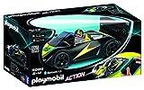 Playmobil- Voiture de Course Noire radiocommandée, 9089