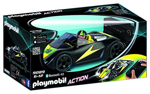 Playmobil 9089 Voiture de Course Noire Radiocommandée, Noir