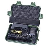 DOGZI Led Taschenlampe Verstellbar, Baumarkt Eisenwaren - Zoomable XML T6 LED Tactical Flashlight + 18650 Akku + Ladegerät + Schlüsselanhänger