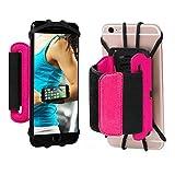 Sports Brassard, 180 ° rotatif support pour téléphone portable avant-bras Course à Pied Cyclisme Gym Jogging Brassard pour iPhone 4/5/6/7/7 Plus Samsung Galaxy S8 S7 S6 Edge Plus etc. (Noir)