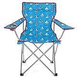 Yello unisex barche a vela da campeggio spiaggia sedia pieghevole, blu, 85x 81x 48cm