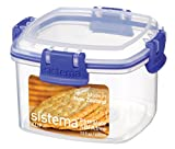 Sistema KLIP IT Cracker Storage Container, 400 ml - Clear with Blue Clips