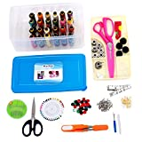 #9: Kurtzy® Sewing Kit Premium Sewing Supplies Thread with Most Useful Colors and Extra quality sewing Accessories and 2 Scissors