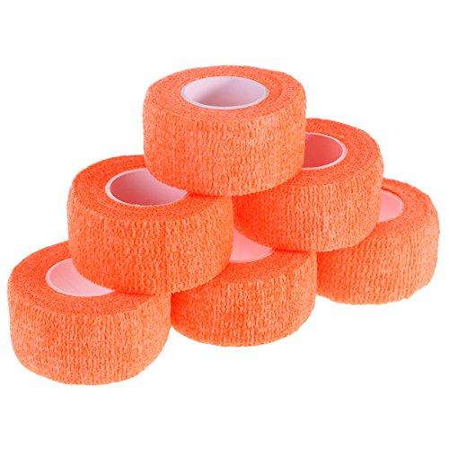 e Wrap 12 Rolle selbsthaftende Wrap Tape Stretch sportlich starke elastische erste Hilfe Tape (Orange) (Orange Stretch Wrap)