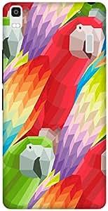 The Racoon Lean printed designer hard back mobile phone case cover for Lenovo K3 Note. (Parrots)