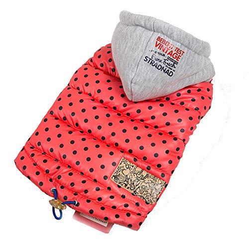 FXnn Haustier Kleidung - Haustier Kleidung Herbst und Winter dicke Weste Hund Kleidung Baumwolle Weste mit Kapuze Teddybär Xiong Bomei kleinen Hund Baumwolle Jacke Weste warm Tierbedarf/Katze/Hund