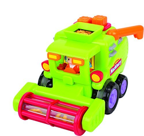 ThinkGizmos Toy Vehicle Set For Toddlers - Push And Go Car Toys For Boys - Friction Powered Push amp; Go Cars - Cement Mixer Truck / Street Sweeper / Harvester Truck With Automatic Functions - Early Educational