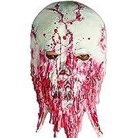 Scary Halloween Costume Horror Zombie Mummy Mask Bloody Melted Face Máscara de látex Super Terrorista Máscara para el partido de terror o traje Cosplay Zombie máscara para adultos