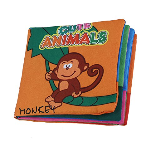 SODIAL (R) tissu doux le developpement de bebe enfants Intelligence grincant Photo Cloth - Animal Kingdom