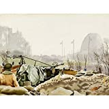 Colville Anti Aircraft Gun Nijmegen Bridge WWII Painting