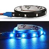 Itimo 30cm DIY impermeabile flessibile auto luce 15SMD LED DRL strisce luci auto styling accessori decorazione lampade (blu)