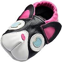 Jinwood designed by amsomo verschiedene Modelle - 3 D Hausschuhe - ECHT LEDER - Lederpuschen - Krabbelschuhe - Mädchen - Jungen - soft sole/mini shoes div. Groeßen 17/19-31/32