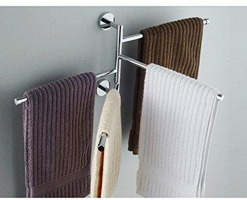 Portasciugamani Bagno Muro : L hm porta asciugamani da parete muro bracci mobili cromato