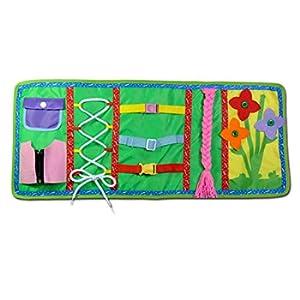 Tavola Delle Attività di Base, Learning Board Dress, Early Learning Basic Life Skills Toys , educativo Dress Boards imparare a zip, Snap, pulsante, fibbia, pizzo e cravatta