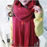 l'hiver Doux et Chaleureux d'écharpes Tartan Covering pour filage de la Laine Femmes Tassel châle