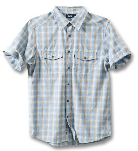 KAVU Herren Oscar Shirt, Herren, Blau (River Blue), X-Small -