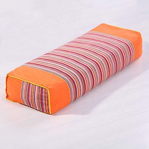Altes grobes Tuch quadratisches Kissen spezieller Schutz Halswirbel Erwachsenenkissen Buchweizenhaut Kissenkern orange 50x16x8.5cm
