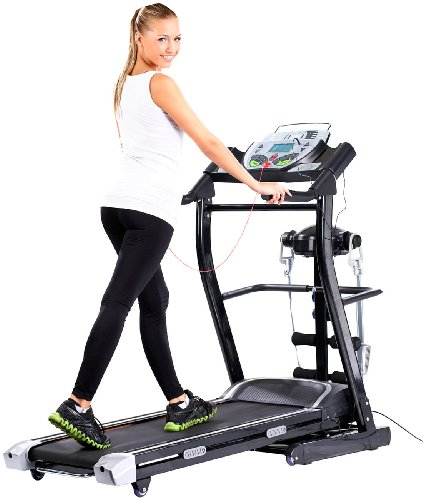 newgen medicals 2in1 Profi-Laufband LF-412.multi mit Fitness-Station und Bandmassage
