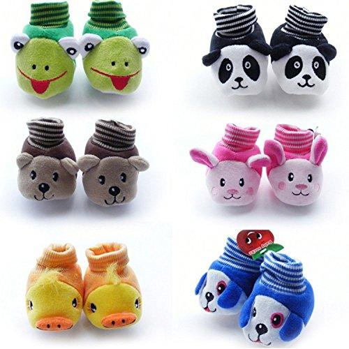 Lukzer Born Baby Fancy Cartoon Face Socks cum Shoes ( Random Design / Color ) Set Of 1 Pair.