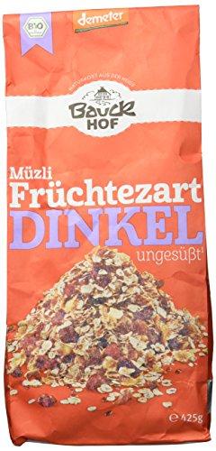 Bauckhof Dinkelmüsli Früchtezart Demeter, 4er Pack (4 x 425 g)