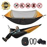 Baytter Ultraleichte Camping Hängematte mit Zipper Moskitonetz multifunktionale Outdoor Camping
