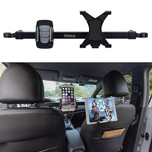 Auto Ipad/Iphone Halterung,Wietus Auto Rücksitz Kopfstütze Verlängerung Halterung für Telefon und Tablette, 360 Grad Rotation,geeignet für Handys innerhalb von3,5-6,0 Zoll und Tabletten oder ipad (TU HD-52) - 52 Tabletten