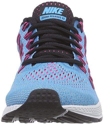 Nike Air Zoom Pegasus 32 Damen Laufschuhe Blau (Bl Lagoon/Blk-Snst Glw-Pnk Pw 408)