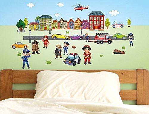 Murales Cameretta Bambini : Adesivo murale parete per cameretta bambini motivo strada