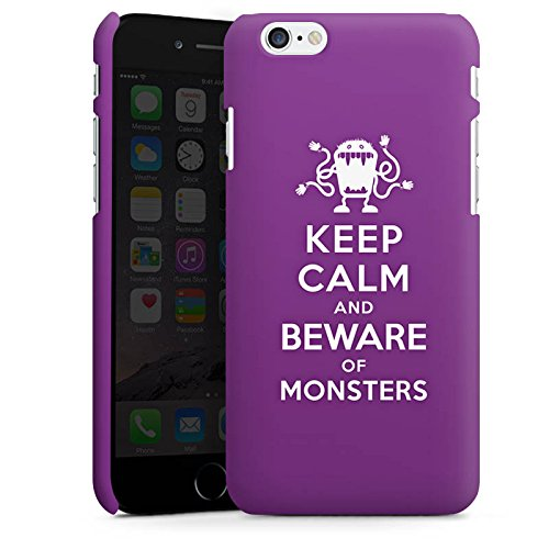 Apple iPhone X Silikon Hülle Case Schutzhülle Keep Calm Monster Spruch Premium Case matt